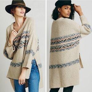 Free People  Alpaca Fair Isle Tunic Sweater